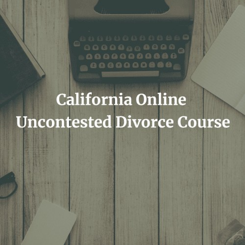 California Online Uncontested Divorce Course