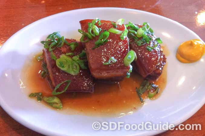 花冈Hanaoka集团旗下Junz餐厅的特色美食-红烧肉。
