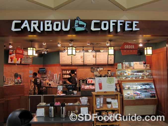 在不少地区很受欢迎的Caribou Coffee店。