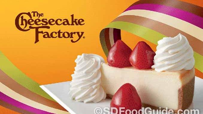 Cheesecake Factory榮獲2017年度最佳美式休閑餐廳品牌。