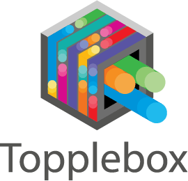 Topplebox logo with transparent background.