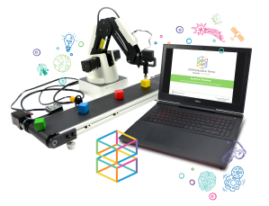 STEM Education Works logo and products graphic with transparent background.