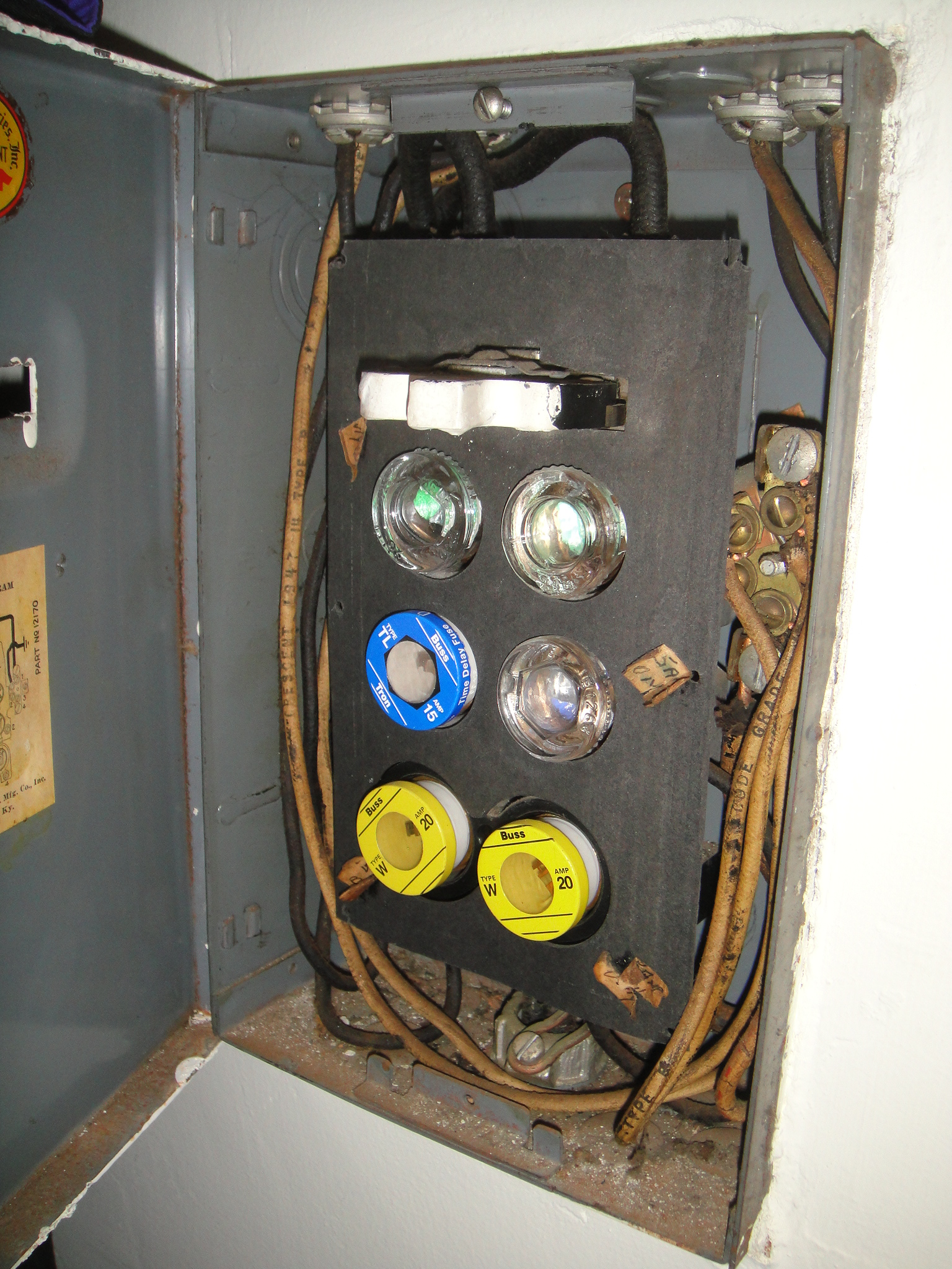 new circuit breakers prevent house fires home inspector san Fuse Box To Breaker Box the history of circuit breakers round fuses that are screwed into the fuse box fuse box to breaker box