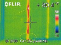 Thermal Imaging of a leaking pipe
