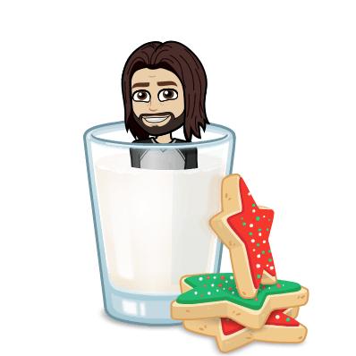 Bitmoji Image Milk and cookies