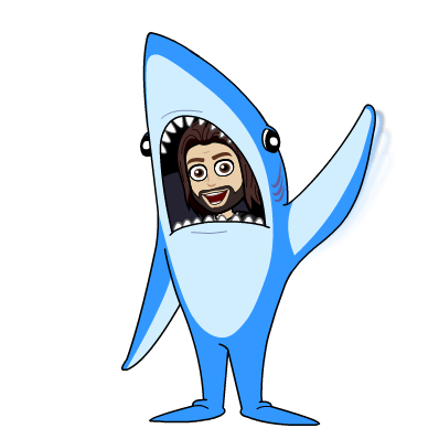 Jordan in shark costume