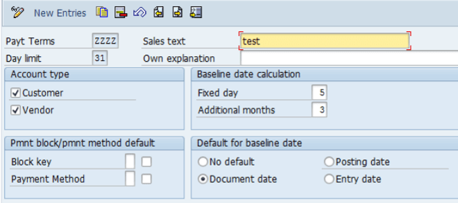 BASELINE DATE CALCULATION | TCode obb8