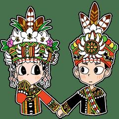 Taiwan Indigenous Boys & Girls - LINE Creators' Stickers