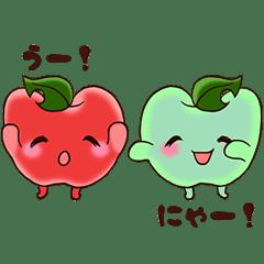 顔文字+リンゴ‼