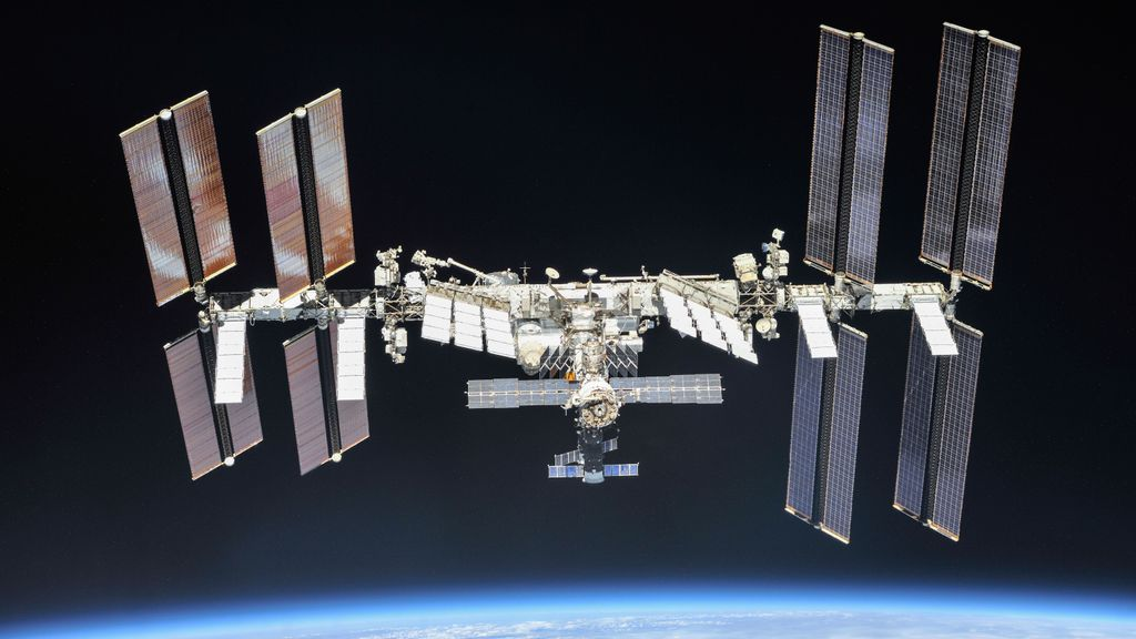 The International Space Station photographed by Expedition 56 crew members from a Soyuz spacecraft after undocking. NASA astronauts Andrew Feustel and Ricky Arnold and Roscosmos cosmonaut Oleg Artemyev executed a fly around of the orbiting laboratory to take pictures of the station before returning home after spending 197 days in space. (NASA/Roscosmos)