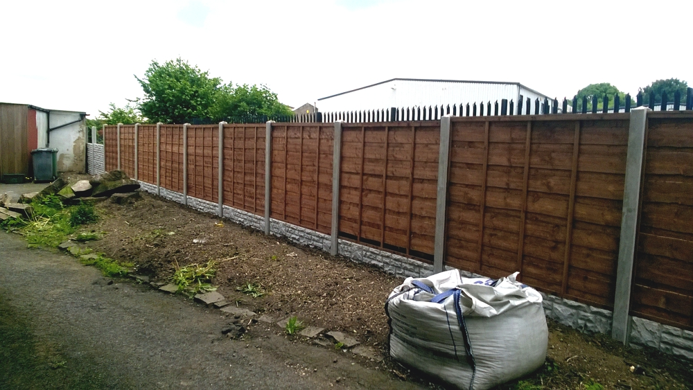 Panel and concrete post fencing sheffield 1