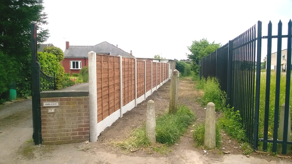 Panel and concrete post fencing sheffield 2