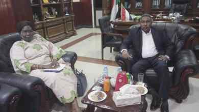وزير الزراعة الاتحادي يلتقي بنظيره بدولة جنوب السودان.