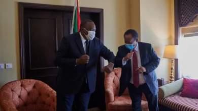 رئيس مجلس الوزراء د. حمدوك يستقبل الرئيس الكيني