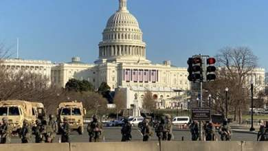 """واشنطن """"ثكنة عسكرية"""".. وتوتر مع قرب تنصيب بايدن (شاهد)"""