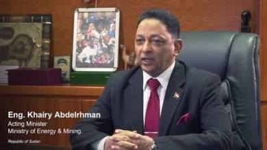وزير الطاقة والتعدين المكلف المهندس خيري عبد الرحمن،