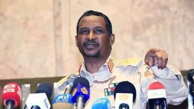 الفريق اول محمد حمدان دقلو النائب الاول لرئيس مجلس السيادة الانتقالي