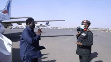 عاجل : نائب رئيس جمهورية جنوب السودان يصل البلاد