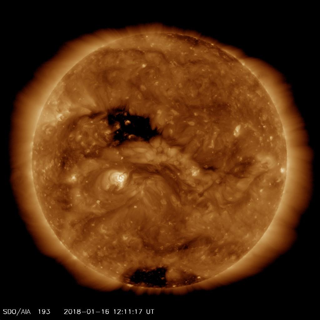 The Sun's Corona, with Coronal Holes