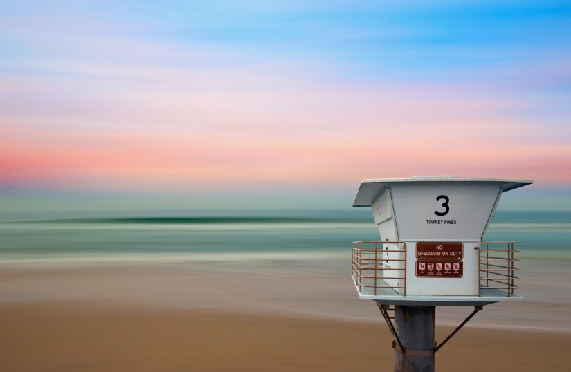 Torrey Pines Lifeguard Tower Long Exposure (C) Lee Sie Photography