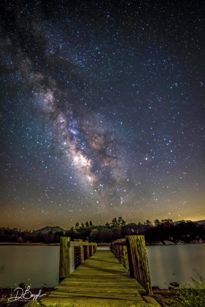 Wooden Pier & Milky Way at Cuyamaca Lake, photo (C) Duane Bazzel