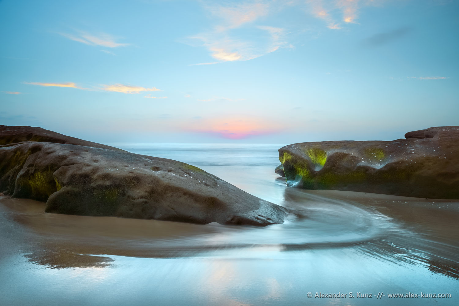 Twilight at Windansea Beach, La Jolla, California