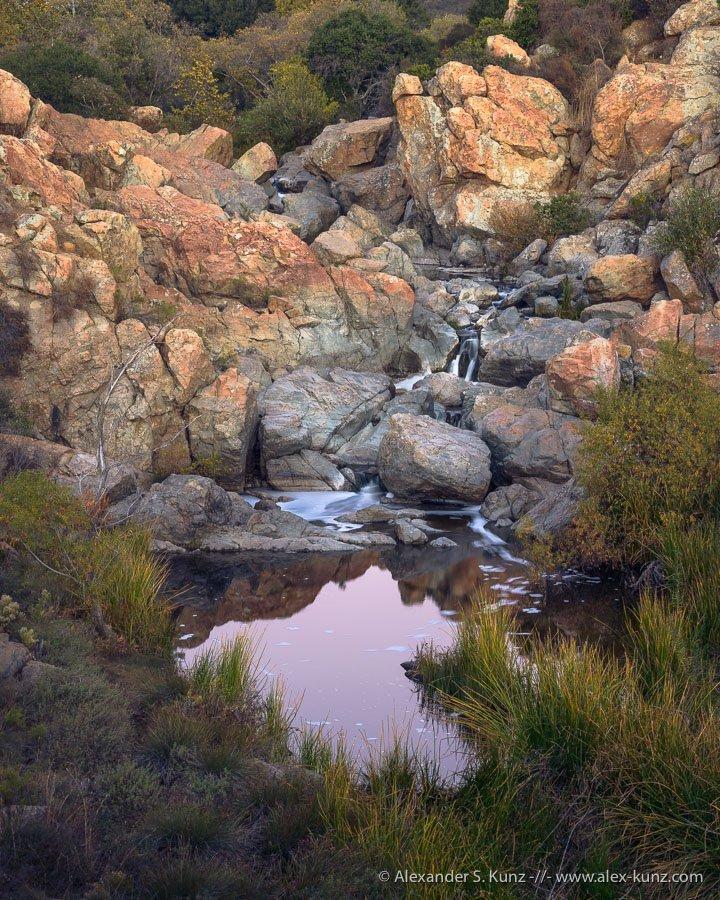 Alexander S. Kunz - Twilight at the Peñasquitos Waterfall