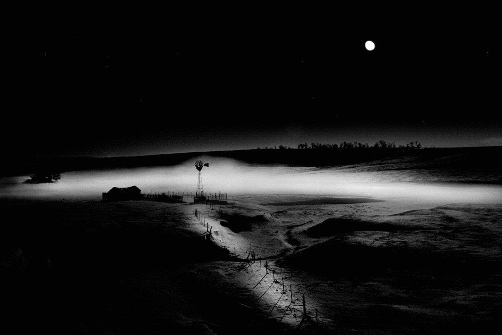 Cole Thompson -- Windmill in Moonlight, 2004