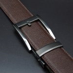 Brown crossgain leather