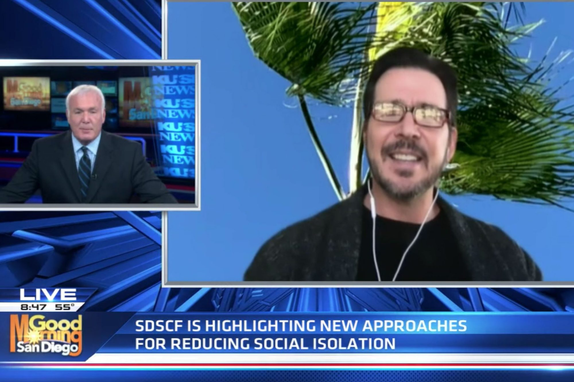 SDSCF Board Member Derek Quackenbush speaks to KUSI