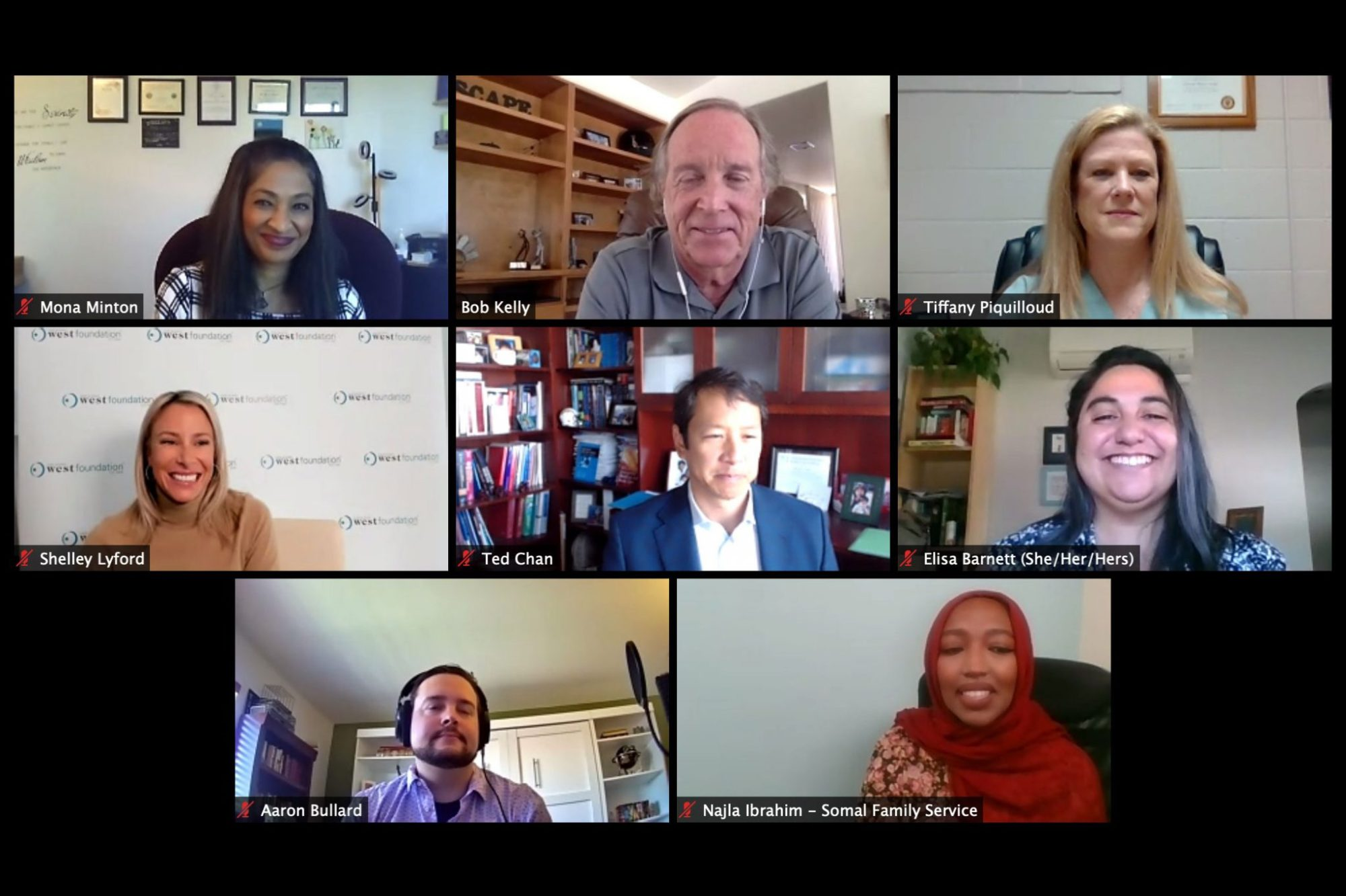 SDSCF grantees speak at a virtual press conference held on Zoom