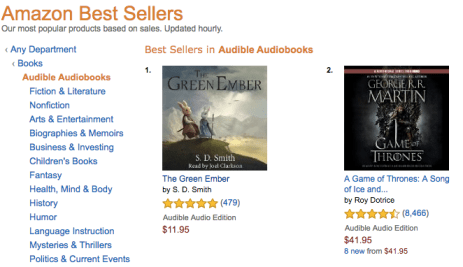 d2415963ee7 Is The Green Ember the #1 Bestselling Audiobook in the World ...