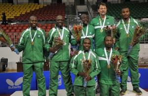 Nigerian Men's team - photo by the ITTF