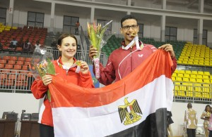 dina meshref and omar assar at the 2015 african games - photo by the ITTF