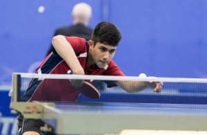 Kanak Jha - photo by the ITTF
