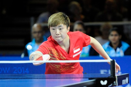 Feng Tianwei - photo by the ITTF