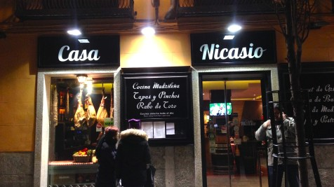 """I was walking through the center of Madrid when I noticed a restaurant called """"Casa Nicasio"""" — of course I had to take a picture!"""