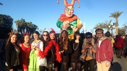 After an 8 hour drive I made it to Carnival in Cadiz in Southern Spain. Everyone was walking the streets, dressed up and singing!
