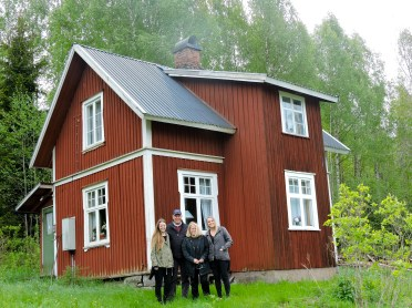 My family in front of my great grandfather's farm in Arvika, Sweden.
