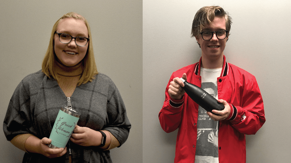 SUBMITTED Tucker Hammer of Sigma Phi Epsilon and Makenzie Huber of Chi Omega have been named the Greek Man and Woman of October.