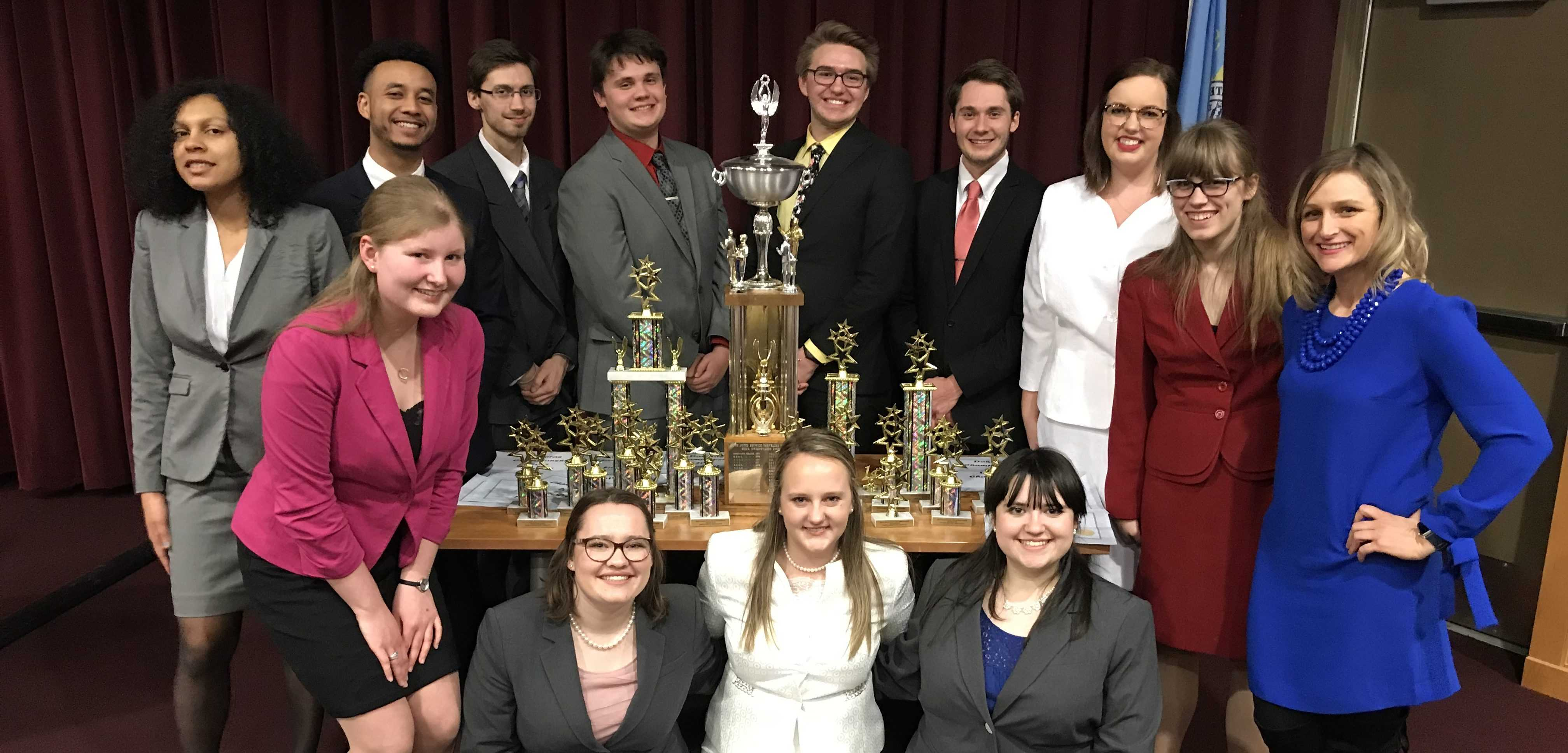 SUBMITTED The South Dakota State forensics team had a successful competition at the Dakota State tournament Feb. 17. The team competes in speech and debate events all over the Midwest.