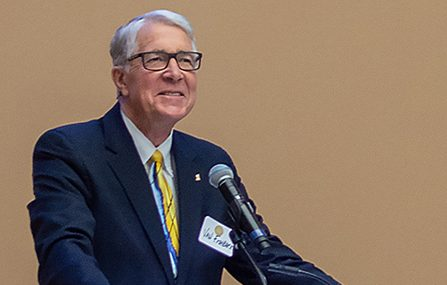 SUBMITTED Van Fishback announced a $3.5 million challenge to support the Van D. and Barbara B. Fishback Honors College Jan. 7 at the South Dakota State University Alumni Center.