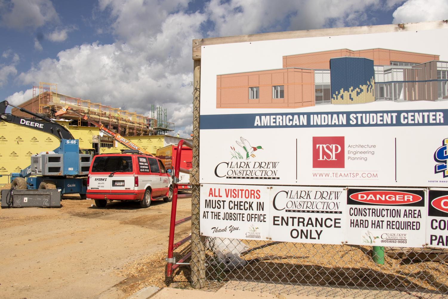 Construction work steadily continues after a long summer on campus. Progress is being made on The American Indian Student Center, which aims to increase diversity at South Dakota State University.