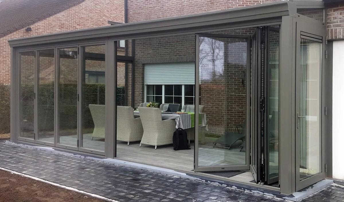 soorten glas ramen veranda