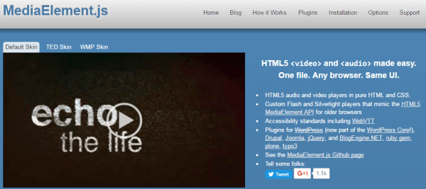 20 jQuery HTML5 Video Player for Website