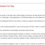 Disrespecting The United States Flag