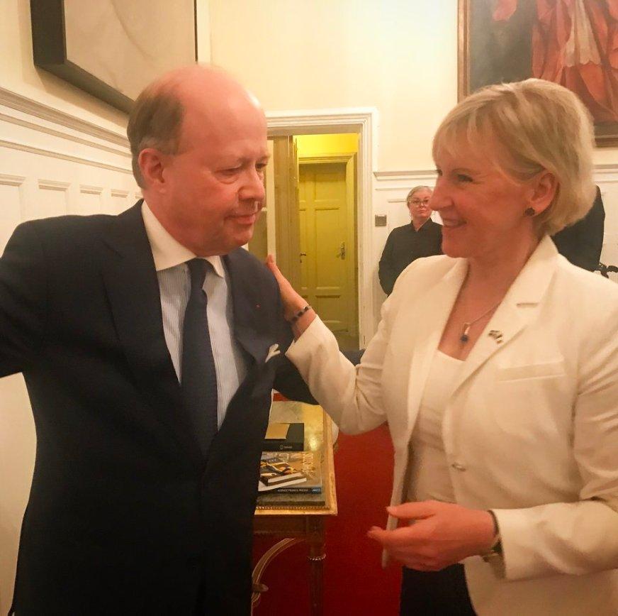 Réception de départ de l'ambassadeur de France en Suède, M ...