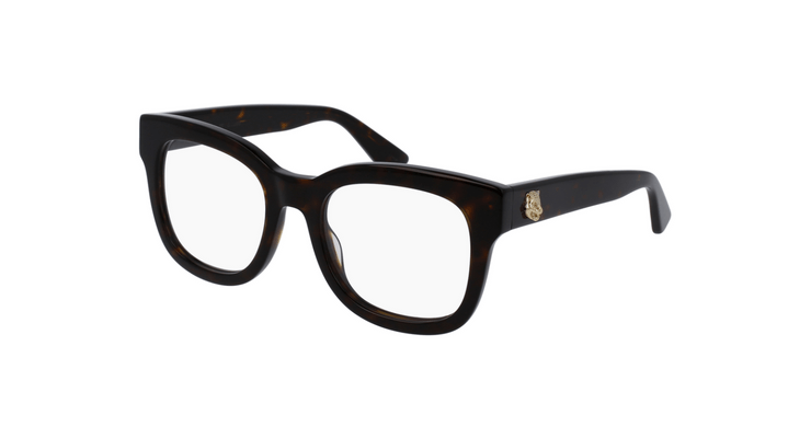 Stora glasögon är det som är hett nu. Skaffa dig ett par av dessa  Gucci-GG0033O-002 och styla dom som du vill. Den här tjocka havana ramen  ger det här paret ... 9826b6cf14021
