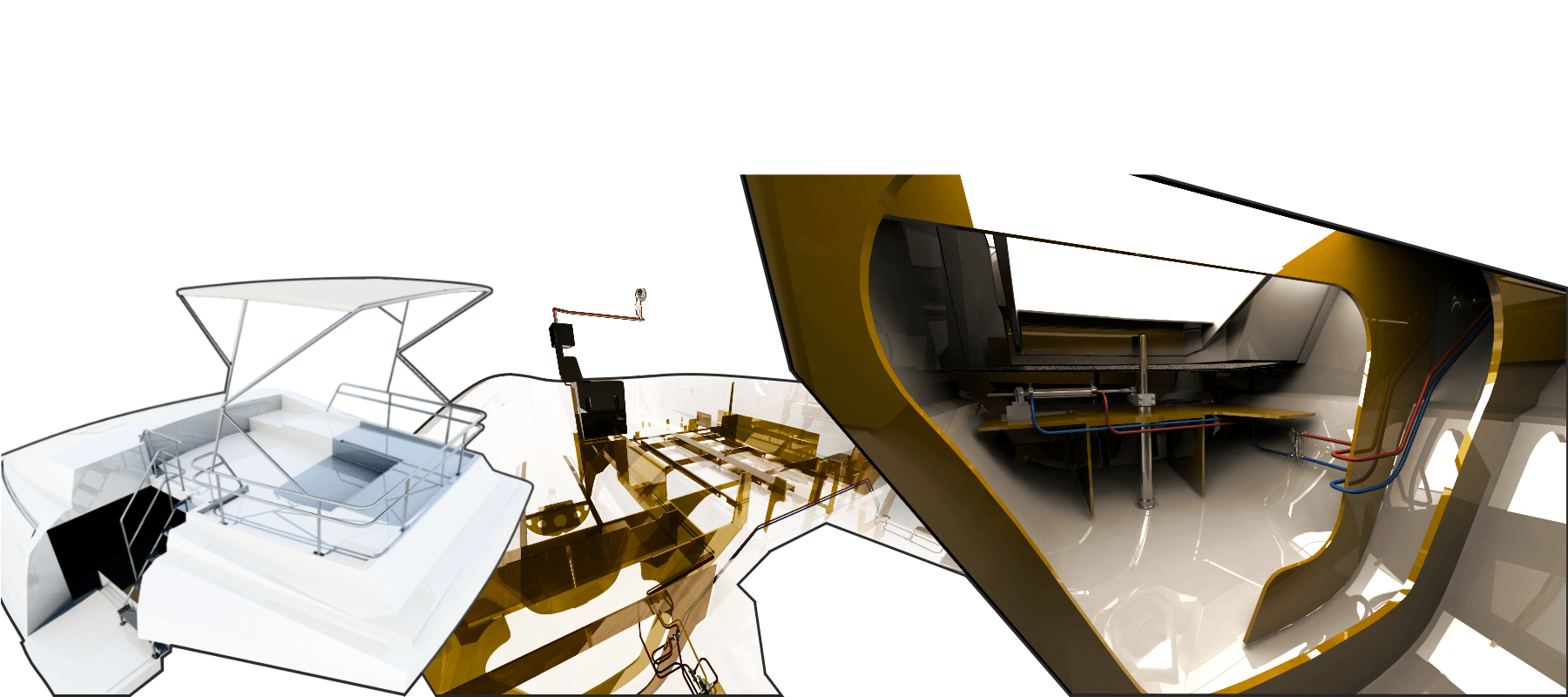 Etudes diverses catamaran 46 pieds