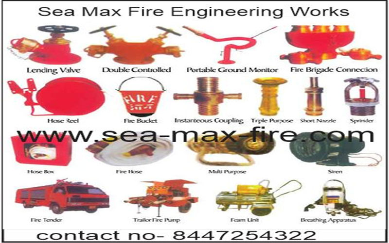 fire fighting equipment, FIRE FIGHTING EQUIPMENT, SEA MAX FIRE ENGINEERING WORKS